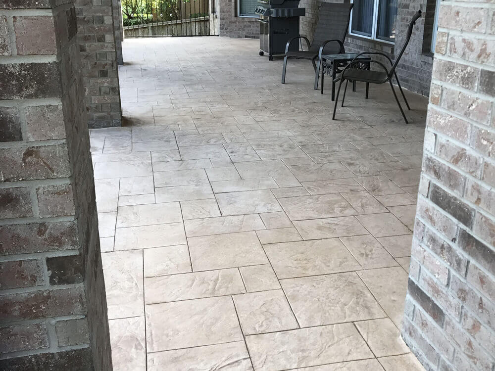 Round Rock Texas Stamped conrete patio